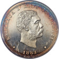 Coins of Hawaii, 1883 25C Hawaii PR63 Cameo PCGS Secure. CAC....