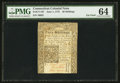 Colonial Notes:Connecticut, Connecticut June 1, 1775 40s PMG Choice Uncirculated 64.. ...