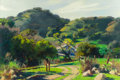 Fine Art - Painting, American:Contemporary   (1950 to present)  , EMIL JEAN KOSA (1903-1968). Spring Hills. Oil on masonite. 23 x 34-1/2 inches (58.4 x 87.6 cm). Signed lower right: E ...