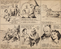 Alex Raymond Flash Gordon Sunday Comic Strip (Used to Create a USPS 1995 Comic Strip Classics Stamp) O... (Total: 2 Item...