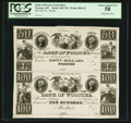 Obsoletes By State:Ohio, Wooster, OH- The Bank of Wooster $50-$100 Wolka 2866-42 Uncut ProofSheet . ...