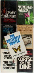 Books:Mystery & Detective Fiction, Janwillem van de Wetering. Group of Seven First Editions. Boston:Houghton Mifflin, 1975-1982. Publisher's cloth bindings an...(Total: 7 Items)