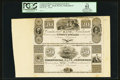 Obsoletes By State:Ohio, Cincinnati, OH- The Commercial Bank of Cincinnati $20-$50 Wolka0425-47 Uncut Proof Sheet . ...