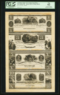 Obsoletes By State:Ohio, New Lisbon, OH- The Columbiana Bank of New Lisbon $1-$3-$5-$10320-X1 Wolka 1848-22 Uncut Proof Sheet. ...