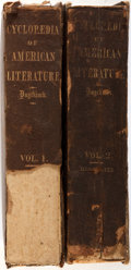 Books:Reference & Bibliography, [Encyclopedia]. Evert and George Duyckinck. Cyclopædia ofAmerican Literature. New York: Charles Scribner, 1856. Ear...(Total: 2 Items)