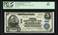 National Bank Notes:Maine, Augusta, ME - $5 1902 Plain Back Fr. 606 First National GraniteBank Ch. # 498. ...