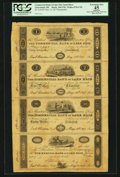 Obsoletes By State:Ohio, Cleaveland, OH- The Commercial Bank of Lake Erie $1-$2-$20-PostNote May 14, 1817 Wolka-Unlisted Uncut Remainder Sheet. ...