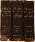 Books:Reference & Bibliography, [Encyclopedia]. S. Austin Allibone. A Critical Dictionary ofEnglish Literature and British and American Authors...from ...(Total: 3 Items)