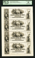 Obsoletes By State:Ohio, Columbus, OH- The State Bank of Ohio, Multiple Branches $1-$1-$1-$1Wolka 0897-01 Uncut Proof Sheet. ...