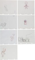 Animation Art:Production Drawing, The Simpsons Animation Drawing Original Art Group (Fox,2001-06).. ... (Total: 7 Items)