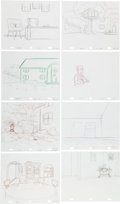 Animation Art:Production Drawing, The Simpsons Layout/Background Drawing Original Art Group(Fox, 2001-05).... (Total: 8 Items)