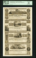 Obsoletes By State:Ohio, St. Clairsville, OH- The Belmont Bank of St. Clairsville$5-$5-$5-$10 Wolka 2467-31 Uncut Proof Sheet. ...