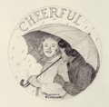 Illustration:Advertising, NORMAN ROCKWELL (American, 1894-1978). Cheerful, The FranklinMint Girl Scout Ingot Series, 1977. Pencil on paper. 10-3/...