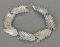 Silver Smalls:Other , A HÉCTOR AGUILAR MEXICAN SILVER BRACELET . Héctor Aguilar, Taxco,Mexico, 1940-1945. Marks: HA (conjoined), TAXCOMEXI...