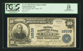 National Bank Notes:Wyoming, Casper, WY - $10 1902 Plain Back Fr. 631 The Wyoming NB Ch. #10533. ...