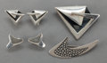 Silver Smalls:Other , TWO SETS OF SIGI PINEDA MEXICAN SILVER EARRINGS AND BROOCHES .Sigfrido Pineda, Taxco, Mexico, circa 1950. Marks: Sigi, TA...(Total: 6 Items)