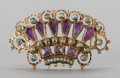 Silver Smalls:Other , A MATILDE POULAT SILVER GILT, AMETHYST AND TURQUOISE BROOCH .Matilde Poulat, Mexico City, Mexico, circa 1950. Marks:Matl...