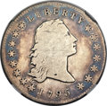 Early Dollars, 1795 $1 Flowing Hair, Silver Plug -- Improperly Cleaned -- NGCDetails. VG. B-1, BB-21, R.2....