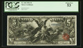 Large Size:Silver Certificates, Fr. 268 $5 1896 Silver Certificate PCGS About New 53.. ...