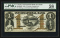 Canadian Currency: , Toronto, CW - International Bank of Canada $1 Sep. 15, 1858 Ch. # 380-10-08-04. ...