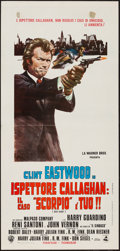 "Movie Posters:Crime, Dirty Harry (Warner Brothers, 1972). Italian Locandina (13"" X27.5""). Crime.. ..."