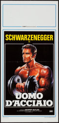 "Movie Posters:Documentary, Pumping Iron (DMV, R-1986). Italian Locandina (13"" X 27.5""). Documentary.. ..."