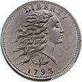 Large Cents, 1793 1C Wreath, Vine and Bars MS65 Brown PCGS. S-5, B-6, R.4....
