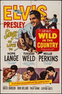 "Wild in the Country (20th Century Fox, 1961). One Sheet (27"" X 41""). Elvis Presley"
