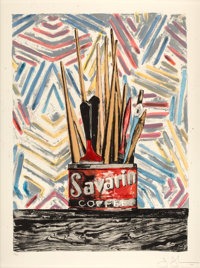 JASPER JOHNS (American, b. 1930) Savarin, 1977 Lithograph in colors 38-1/4 x 28-1/4 inches (97.2