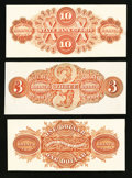 Obsoletes By State:Ohio, OH- The State Bank of Ohio, Three Branch Back Proofs $1, $3, $10Wolka 1945-05, 1723-18 and 2590-39 . ... (Total: 3 notes)