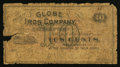 Obsoletes By State:Ohio, Jackson, OH- The Globe Iron Company 10¢ Wolka 1359-02. ...