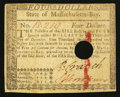 Colonial Notes:Massachusetts, Massachusetts May 5, 1780 $4 Hole Cancel Very Fine.. ...