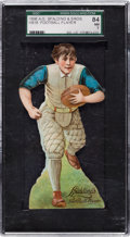 """Football Cards:Singles (Pre-1950), 1896 H818 A. G. Spalding Stand-Ups """"Football"""" SGC 84 NM 7 - TheFinest SGC Example! ..."""