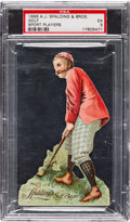 """Golf Cards:General, 1896 H818 A. J. Spalding Stand-Ups """"Golf"""" PSA EX 5 - The Finest SGC Example! ..."""