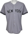 Baseball Collectibles:Uniforms, 2011 Derek Jeter Passes Mickey Mantle for Most Games Played withNew York Yankees Worn Jersey....
