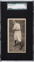 "Baseball Cards:Singles (Pre-1930), Extremely Rare 1911 ""Big Eater"" Frank Arellanes SGC 60 EX 5 - TheOnly Example on Record! . ..."