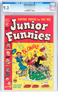 Junior Funnies #11 File Copy (Harvey, 1951) CGC NM- 9.2 Cream to off-white pages