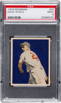 Baseball Cards:Singles (1940-1949), 1949 Bowman Dave Koslo #34 PSA Mint 9 - None Higher....