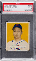 Baseball Cards:Singles (1940-1949), 1949 Bowman Ulysses Lupien #141 PSA Mint 9 - Pop Three, None Higher....