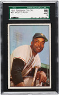 Baseball Cards:Singles (1950-1959), 1953 Bowman Color Monte Irvin #51 SGC 96 Mint 9 - Pop One! The Finest SGC Example! ...