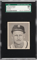 Baseball Cards:Singles (1940-1949), 1948 Bowman Bob Elliott #1 SGC 96 Mint 9 - Pop Two, None Higher! ...