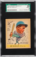 Baseball Cards:Singles (1930-1939), 1938 Goudey Rip Radcliff #285 SGC 88 NM/MT 8 - The Finest SGC Example! ...