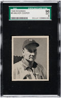 Baseball Cards:Singles (1940-1949), 1948 Bowman Walker Cooper #9 SGC 96 Mint 9 - None Higher! ...
