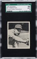 Baseball Cards:Singles (1940-1949), 1948 Bowman Ferris Fain #21 SGC 96 Mint 9 - Pop One, One Higher!...