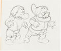Animation Art:Production Drawing, Snow White and the Seven Dwarfs Grumpy and Doc ProductionDrawing (Walt Disney, 1937).... (Total: 2 Items)