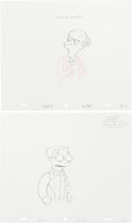 Animation Art:Production Drawing, The Simpsons Animation Drawing Original Art Group (Fox,1991-04).... (Total: 2 Items)