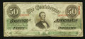 Confederate Notes:1863 Issues, Fully Framed T57 $50 1863.. ...