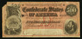 Confederate Notes:1864 Issues, Dark Red Tint T64 $500 1864.. ...