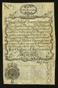 Colonial Notes:New Hampshire, New Hampshire April 1, 1737 Redated August 7, 1740 40s Cohen ThinPaper Reprint Fine-Very Fine.. ...