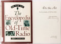 Books:Americana & American History, John Dunning. SIGNED. On the Air: The Encyclopedia of Old-TimeRadio. New York and Oxford: Oxford University Press, ...